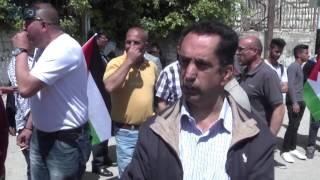 مصر العربية |  إصابات خلال تفريق الجيش الإسرائيلي مسيرة قرب رام الله