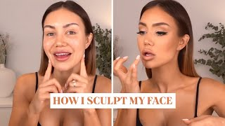 How I sculpt my face with makeup | Pia Muehlenbeck Tutorial