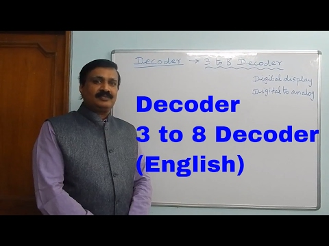 3 to 8 Decoder, Binary to Octal  Decoder (English)