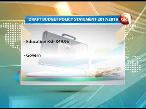 National Treasury proposes a Kshs 2.27 trillion budget 2017/2018 fiscal year