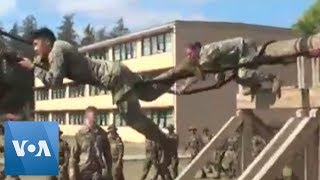 U.S. and Indian Soldiers Train at U.S. Military Base