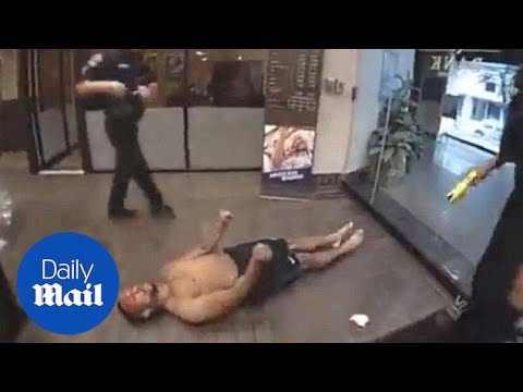 Disturbing Footage Of Man Fatally Tased After Breaking Into Bank