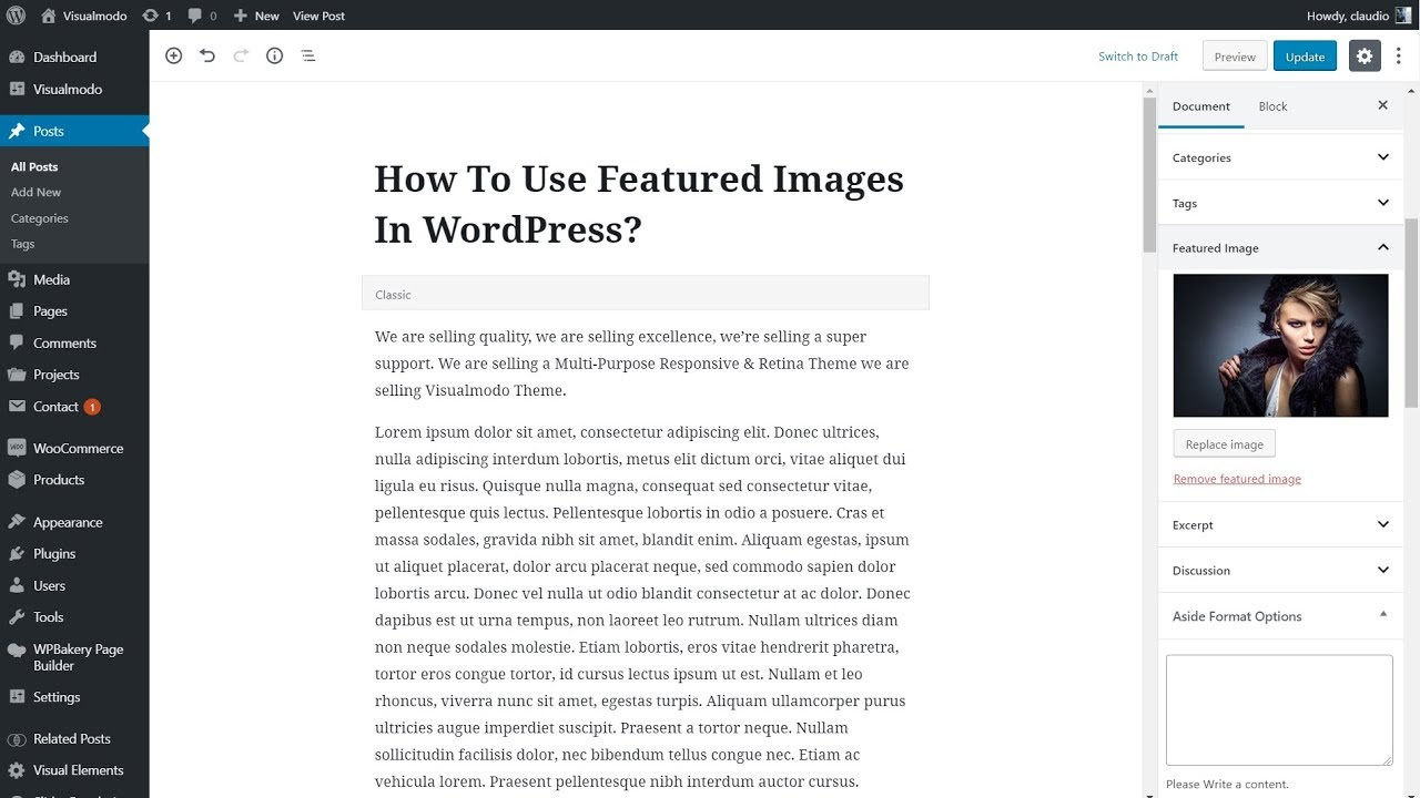 WordPress Featured Image Usage Guide