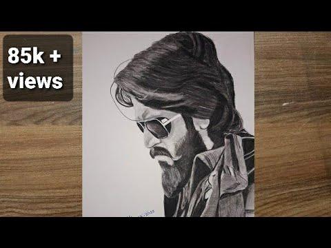 Kgf Drawing The Rocking Star Yash Kgf Chapter 2 Smit Prajapati Art Creator Youtube