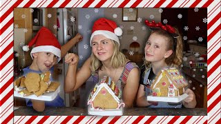 HILARIOUS Gingerbread house making! Ft my cousins!