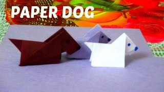 ORIGAMI DOG / Simple Paper Puppy for Kids- INNOVATIVE ARTS
