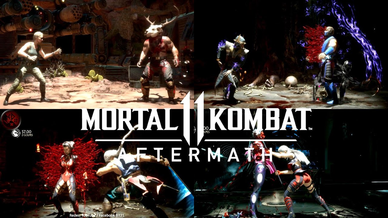 MK11 Aftermath: ALL (347) BRUTALITIES / Stage / Easter Eggs / Variantes / Kombat League & +