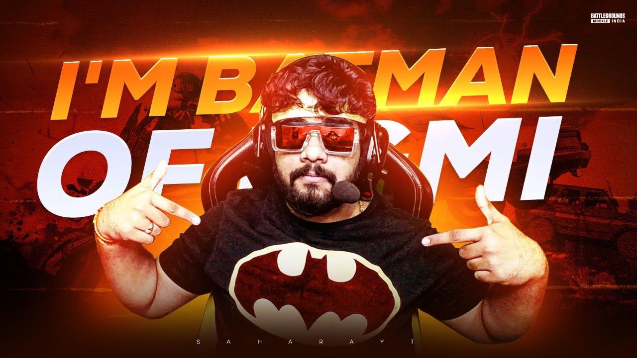 Batman in BGMI   Battlegrounds Mobile India   #unqgamer #unqgaming #saharayt