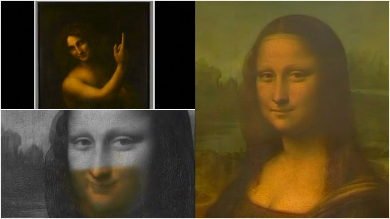 The Two Faces Of Famous Painting Monalisa Youtube