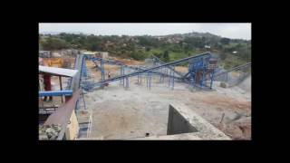120 tons granite production line in Uganda