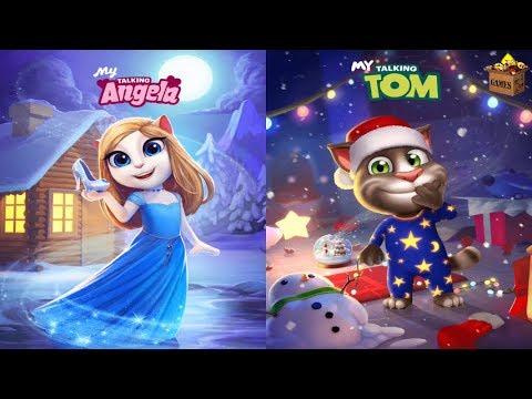 My Talking Tom CHRISTMAS'X 2017*Vs My Talking Angela Designed Dress*Gameplay Make For Kid #263