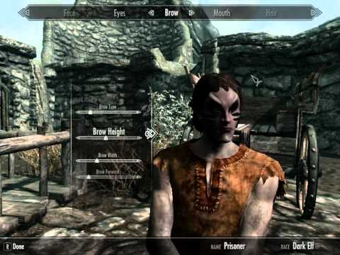 skyrim how to make a good looking high elf