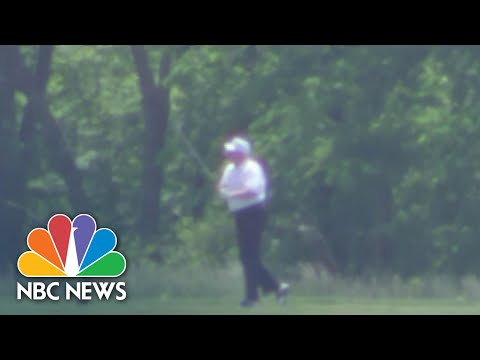 Trump Hits The Golf Course For First Time During Pandemic | NBC Nightly News