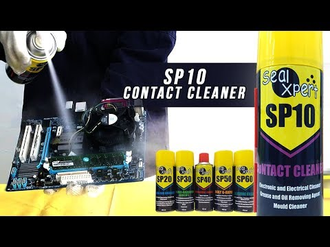 How to clean electronic parts with SP10 Contact Cleaner