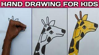 7 Handy palm Art.// Hand placing drawing./// Tarun Art. Part..1