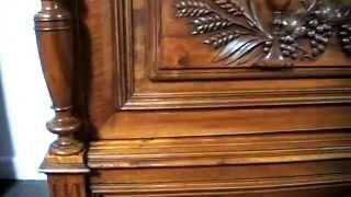 Impressive French Henry I/II Fiddle Back Walnut Bookcase/Display Cabinet - c1890