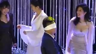 Kịch tính đến phút cuối, Vân Navy và ông xã cùng khách mời chơi game cực lầy trong đám cưới