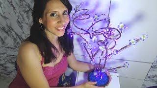 DIY(faça voce mesma)Como fazer uma luminária árvore de pisca pisca