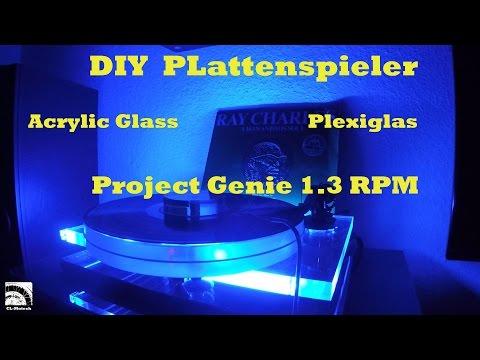 DIY Turntable  Plattenspieler selber bauen - acrylic glass -