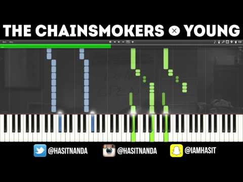 The Chainsmokers - Young (PIANO TUTORIAL + FREE SHEETS)