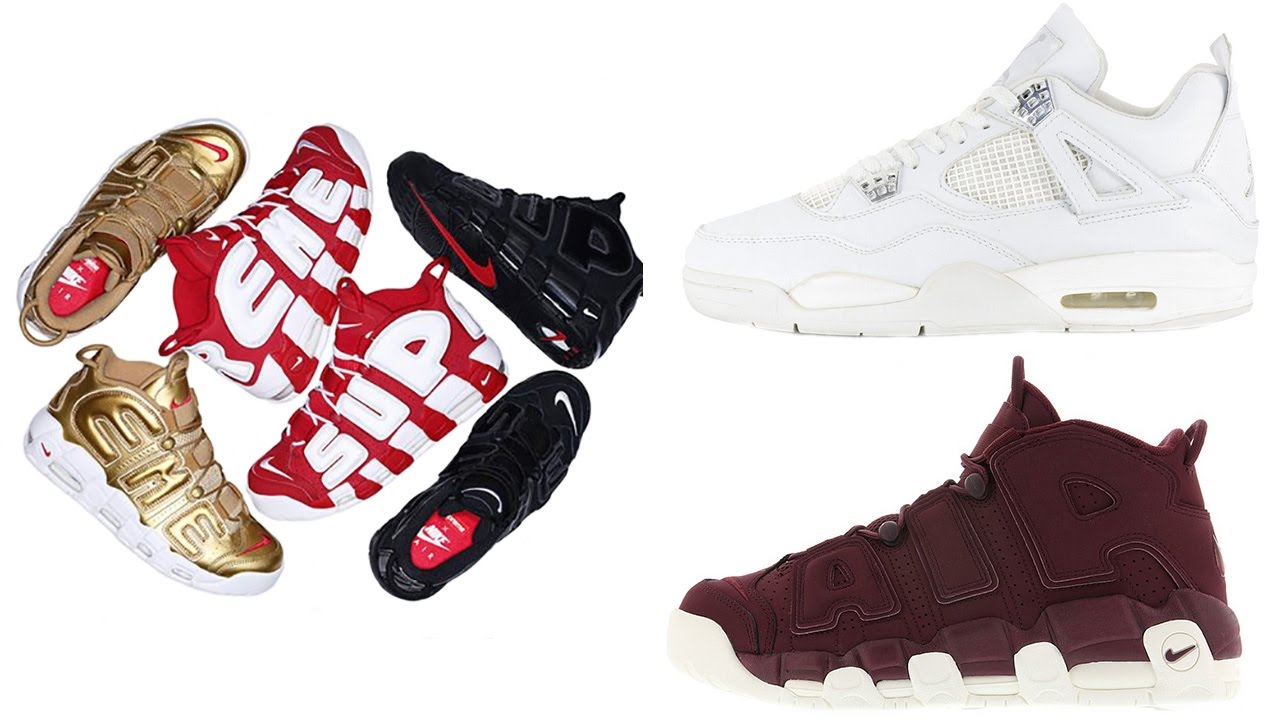 separation shoes eb89f 43713 SUPREME x Nike Air More Uptempo Info, Jordan 4 PURE MONEY, Air More Uptempo  BORDEAUX and More