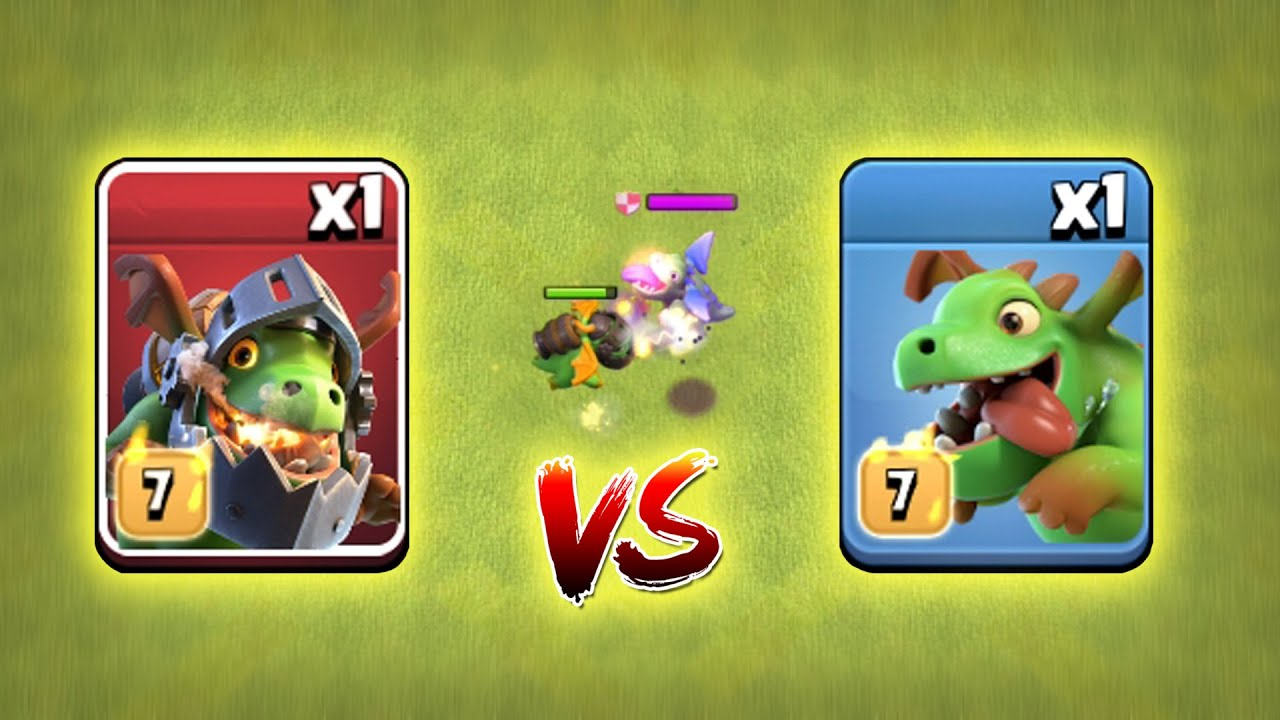 Max Inferno Dragon vs Max Baby Dragon | Clash of Clans | *Unbelievable Attack* | NoLimits
