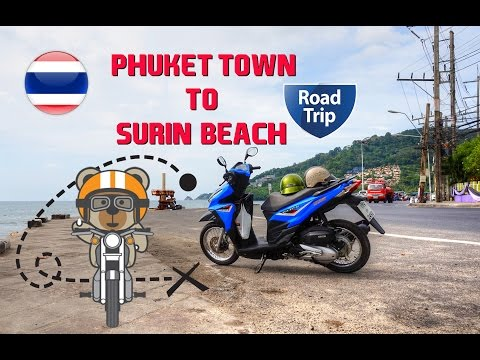 Phuket Town to Surin Beach - Road Trip (60fps)