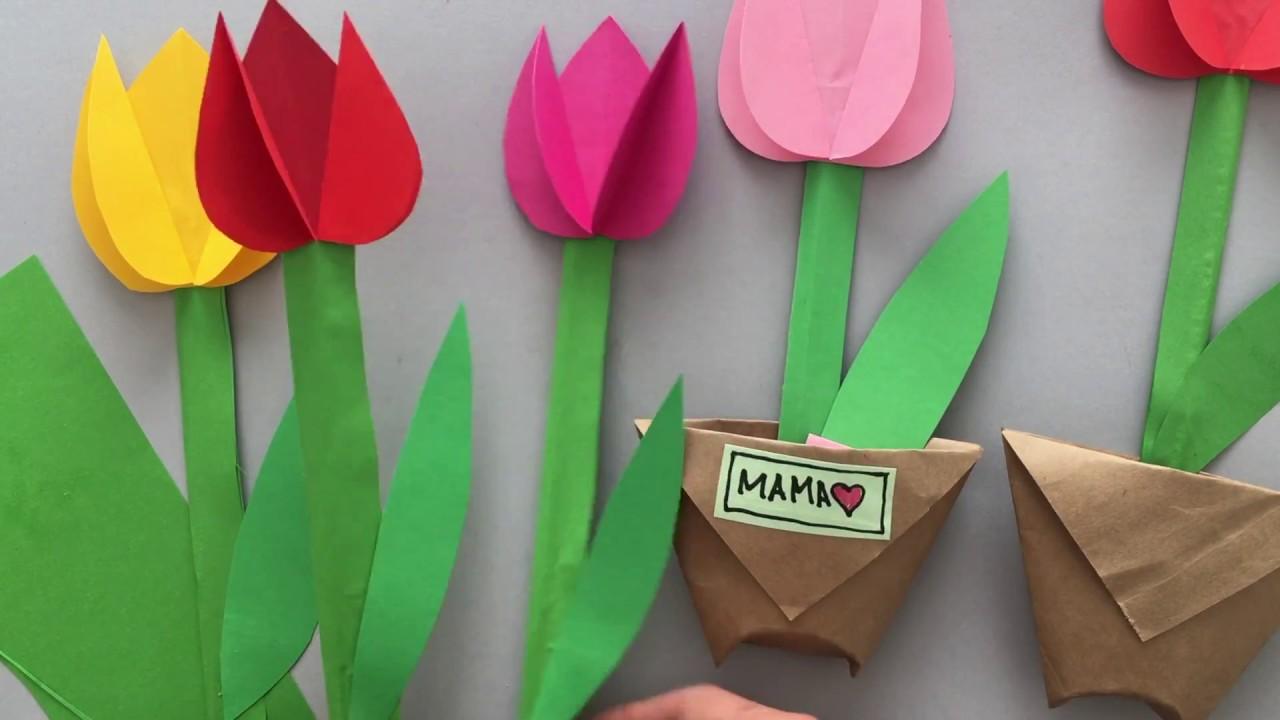 Paper Tulips Youtube