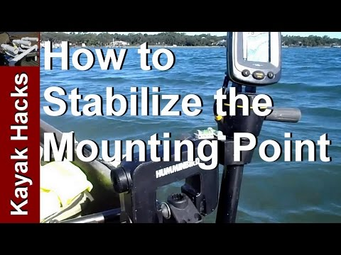 Mounting a Humminbird Portable Fishfinder to a Fishing Kayak