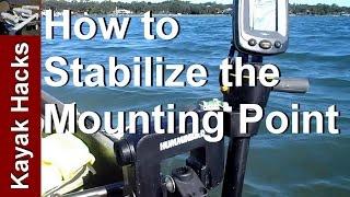 fishing kayak setup mounting a humminbird portable fishfinder