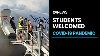 First flight of international students welcomed back to Australia since the pandemic | ABC News