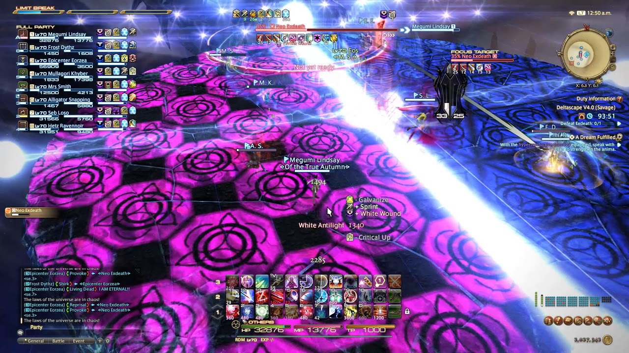 Final Fantasy XIV Deltascape O4S Weekly clear Rdm POV