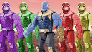 Learn Colors with Funny Alien Dance find heroes THANOS Colorful Funny Toys | for kids Nursey Rhymes