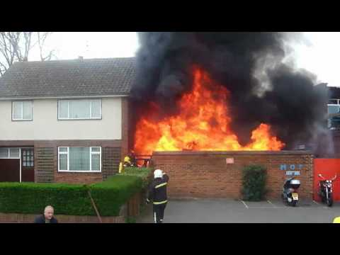 Motorcycle Store Fire in Witham  April 2011