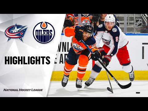 NHL Highlights   Blue Jackets @ Oilers 3/7/20