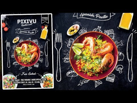 Restaurant Flyer Design - Photoshop Tutorial thumbnail