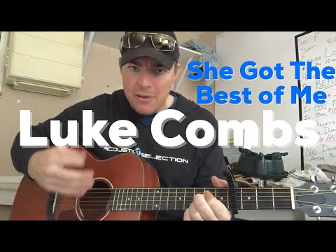She Got the Best of Me | Luke Combs | Beginner Guitar Lesson