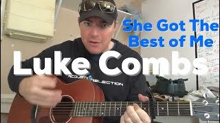 Download She Got the Best of Me   Luke Combs   Beginner Guitar Lesson Mp3 and Videos
