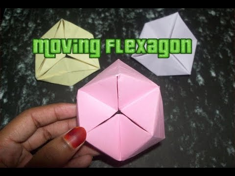 EASY Origami Moving Flexagon ( Is it better than a fidget spinner? )