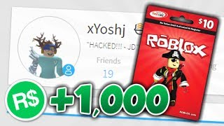 HACKING A ROBLOX ACCOUNT ET ADDING ROBUX!!!