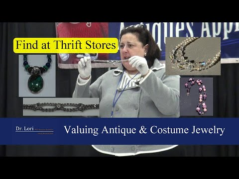 Valuing Antique & Costume Jewelry - Find At Thrift Stores By Dr. Lori