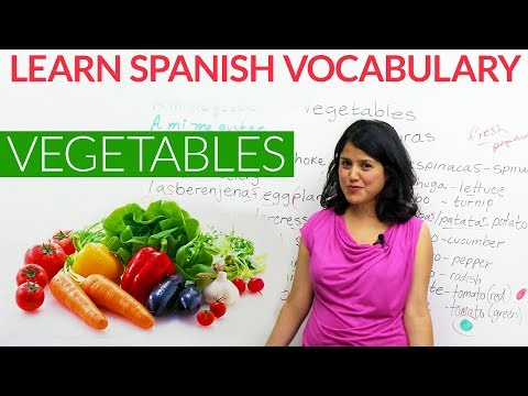 Learn basic Spanish Vocabulary: Vegetables in Spanish