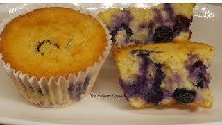 Lemon & Blueberry Breakfast Muffins with yoghurt