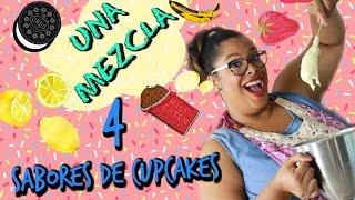 1 mezcla 4 sabores de cupcake español