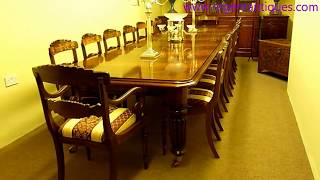 03096 Vintage Victorian Mahogany Long Dining Table