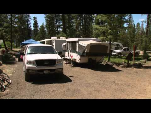 Warm Lake Campground On The Boise National Forest In Idaho