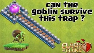 Can The Goblin Pass This Trap ? Clash of Clans Private Server | Wolf Gaming | COC Attack|clash a ram
