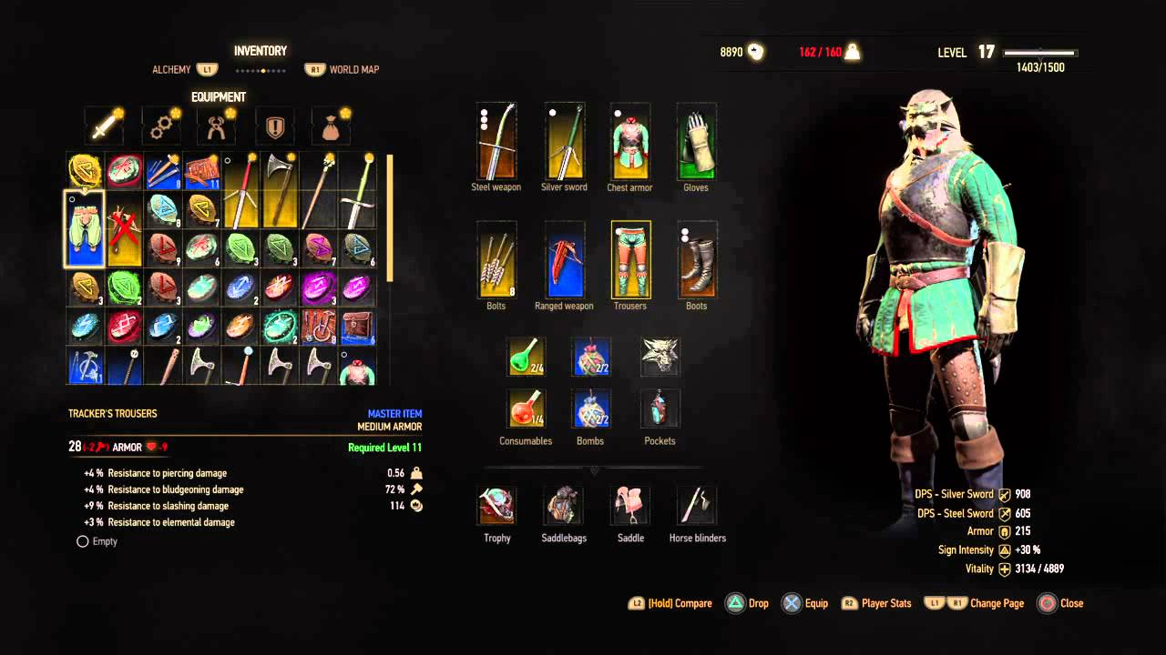 The Witcher 3: Wild Hunt location find sword level 10 and crossbow lv 24 - YouTube