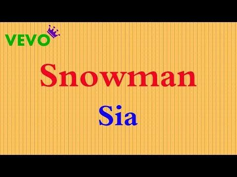 Sia - Snowman (Karaoke/Lyrics/Instrumental)