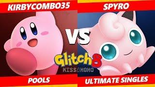 Glitch 8 SSBU - Spyro  (Jigglypuff) Vs. Kirbycombo35 (Kirby) Smash Ultimate Tournament Pools